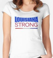 Louisiana Strong - Hurricane Harvey Survivor Relief Effort T-shirt Women's Fitted Scoop T-Shirt