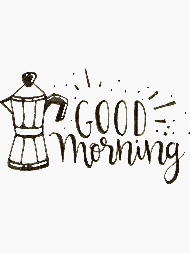 Good Morning - Coffee Illustration by mirunasfia