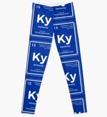 Kentucky Periodic Table of the Elements Design Leggings