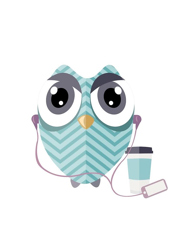 Early Bird - Geeky Owl by mirunasfia