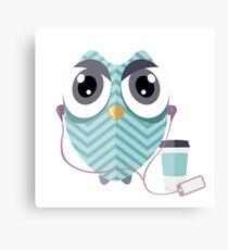 Early Bird - Geeky Owl Canvas Print