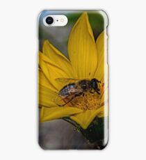 Yellow flower and bee - springtime iPhone Case/Skin