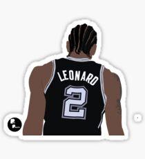 Kawhi Leonard Minimalist Art Sticker