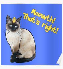 Real Life Meowth Poster