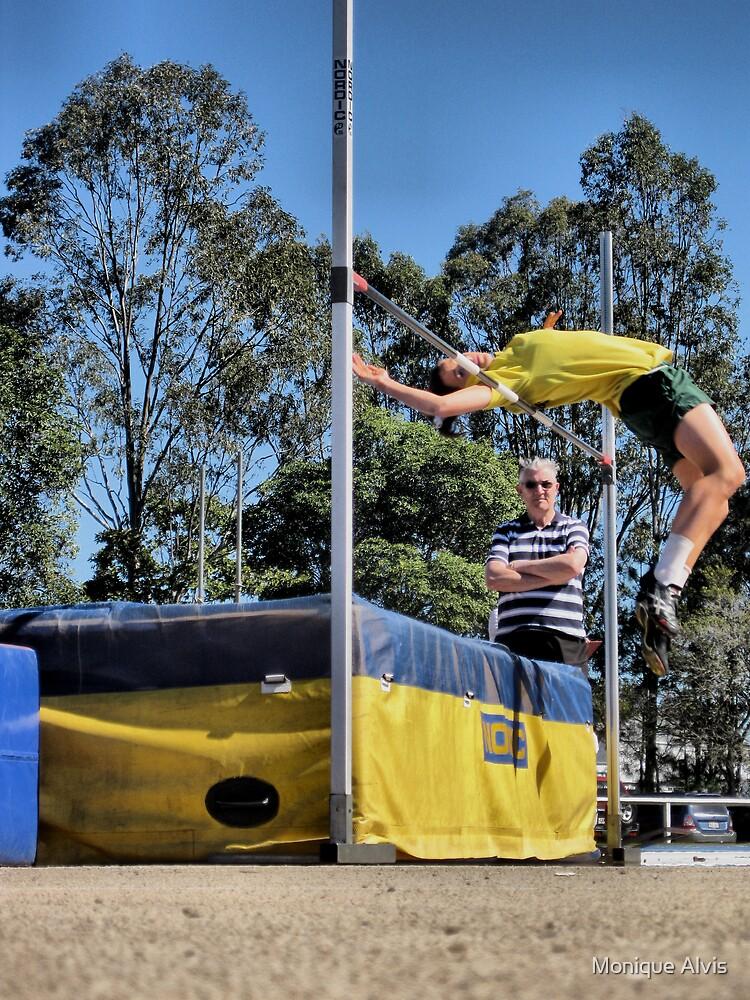 Yellow High Jump by Monique Alvis