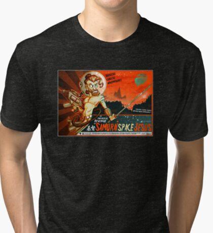 Samurai Space Jesus Tri-blend T-Shirt