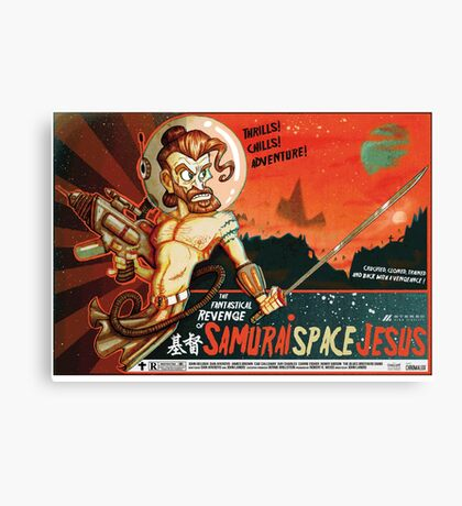 Samurai Space Jesus Canvas Print