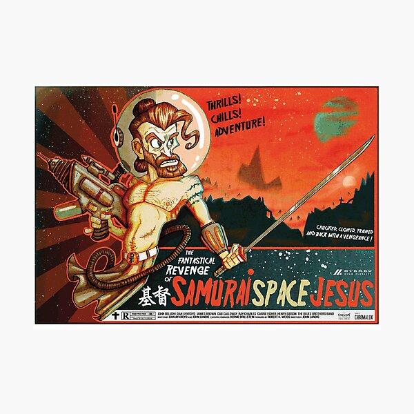 Samurai Space Jesus Photographic Print