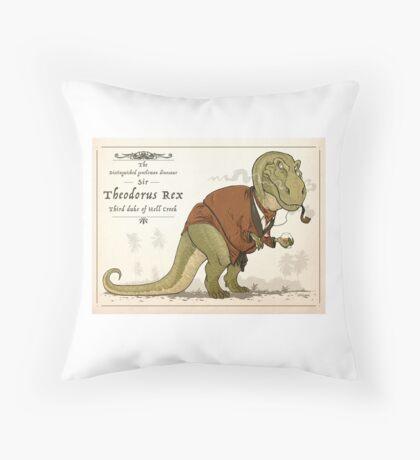 Gentleman Rex Throw Pillow