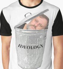 ZIZEK IDEOLOGY TRASHCAN PARODY PCM MEMES Graphic T-Shirt