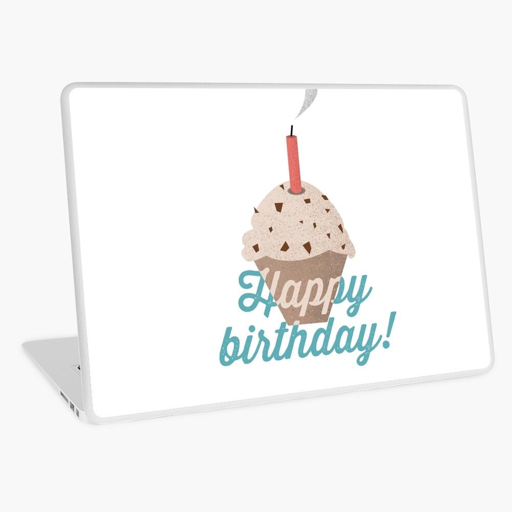 Happy Birthday Muffin Laptop Skin