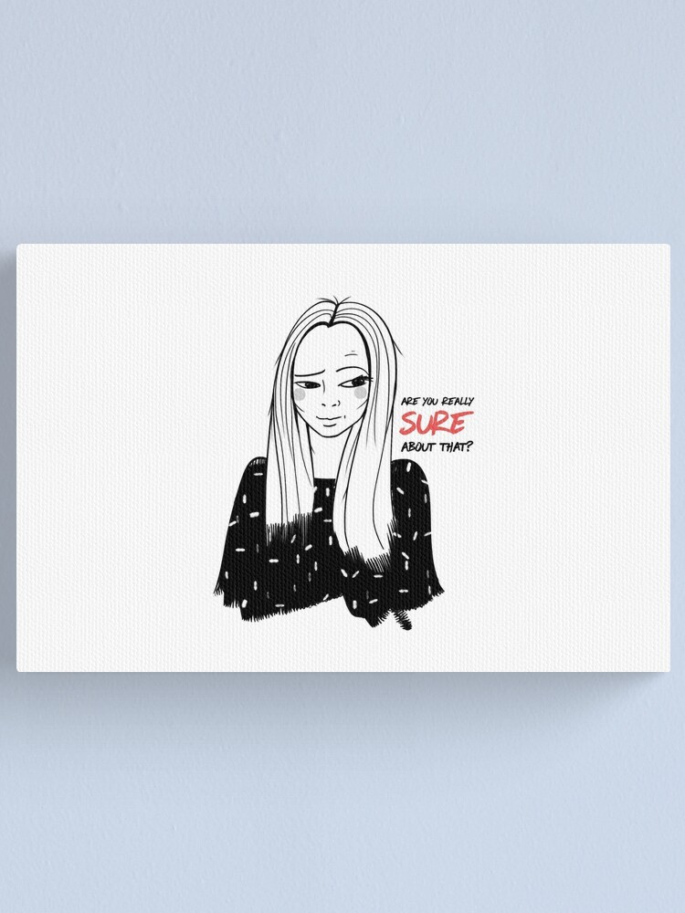 Alternate view of Girl with attitude Canvas Print