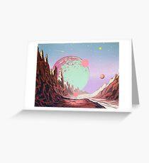 Green Moon Greeting Card