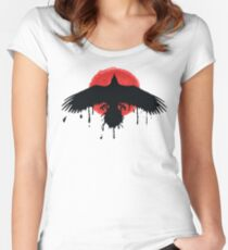 Chloe Price Black/Red Raven - Life Is Strange Before The Storm Women's Fitted Scoop T-Shirt