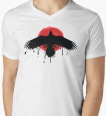 Chloe Price Black / Red Raven - Das Leben ist vor dem Sturm seltsam T-Shirt mit V-Ausschnitt für Männer