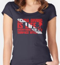 Scuba Diving Is Life - Everything Else Is A Surface Interval Women's Fitted Scoop T-Shirt