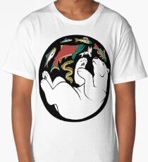 Fishing Bear Long T-Shirt