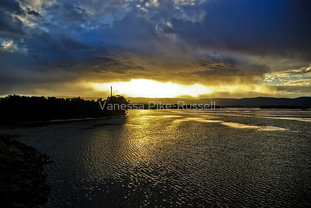 Waterscape: Illlawarra, NSW: And the rains fell... on Lake Illawarra  by Vanessa Pike-Russell