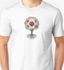 Tree of Life with South Korean Flag Unisex T-Shirt