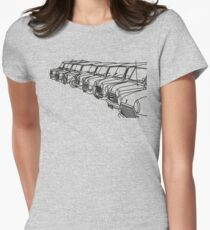 Classic Mini Outlines Women's Fitted T-Shirt
