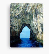 Capri Sailing (Reworked) Canvas Print