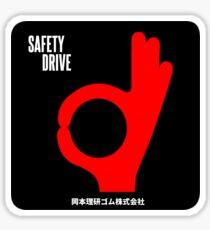Safety Drive Condoms Vintage Decal Sticker