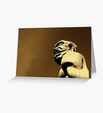 The lion man (writing) Greeting Card