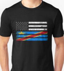 Congolese American Flag - USA Congo Shirt Unisex T-Shirt