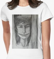 Roxanne - A Portrait Drawing Womens Fitted T-Shirt