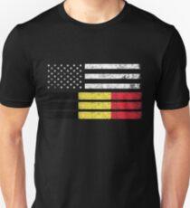 d792deb89 Belgian American Flag - USA Belgium Shirt Unisex T-Shirt