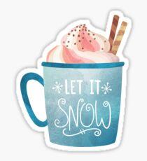 Let it Snow Hot Chocolate Coffee, Pumpkin Spice Coffee Autumn Winter Sticker