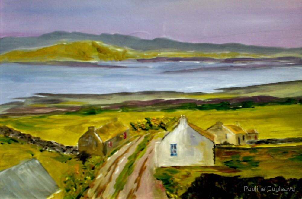 Cottage in Ireland (13 x 8 inches) by Pauline Dunleavy