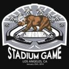 2014 LA Stadium Game T-Shirt (White Text) by theroyalhalf