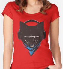 Monstercat Uncaged Vol 2 (White) Women's Fitted Scoop T-Shirt