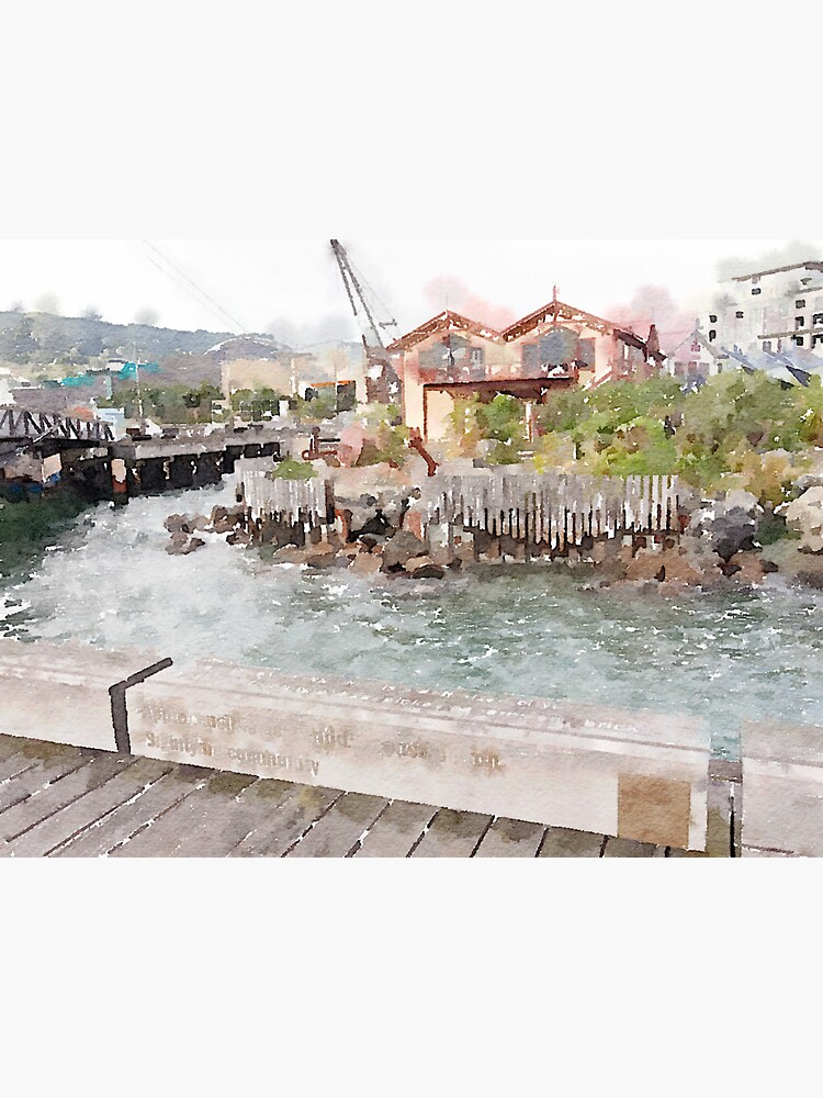 Wellington Harbor Watercolor by douglasewelch