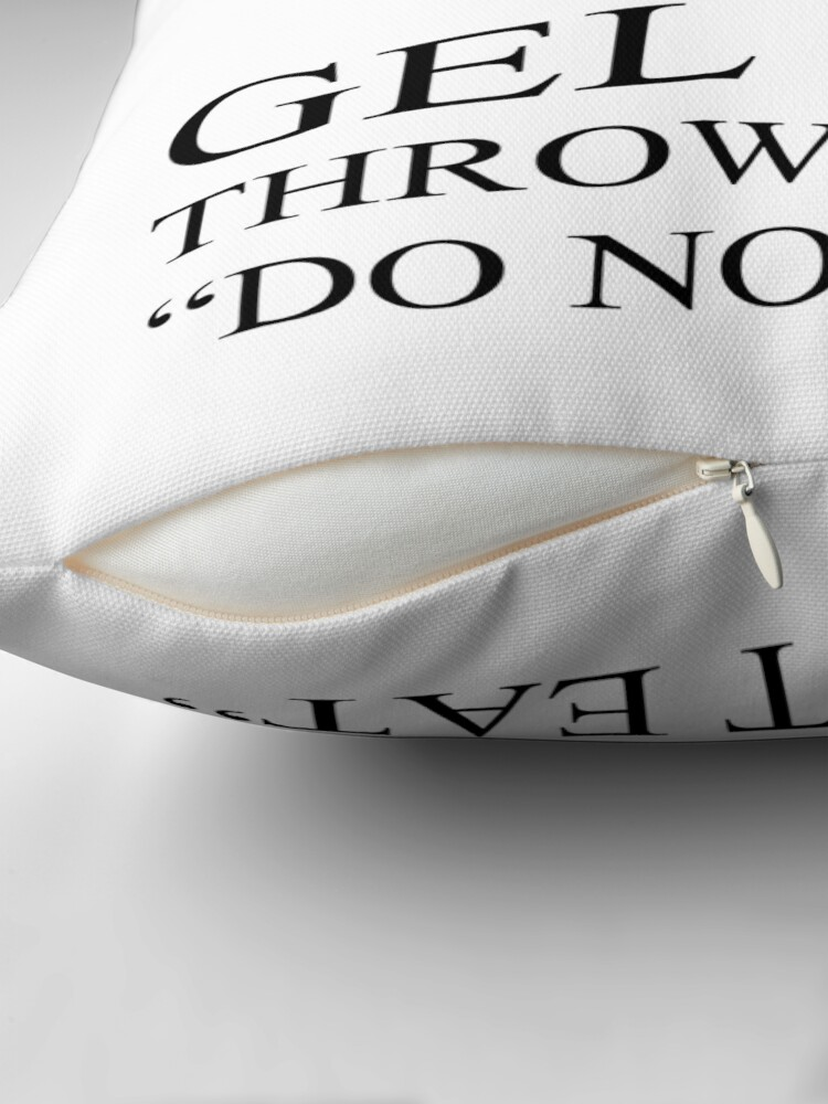 Alternate view of Silica Gel Package Throw Pillow