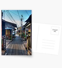 Clan jetty wooden houses Postcards
