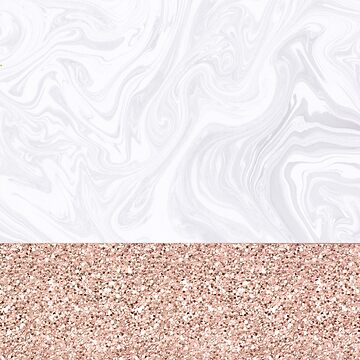 White Marble Dipped in Rose Gold Glitter by julieerindesign