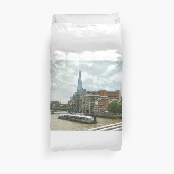 The Shard London looks part of the building  Duvet Cover