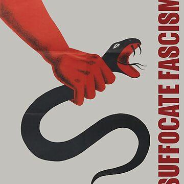 Ersticken Faschismus - Retro antifaschistische Kunst von dru1138