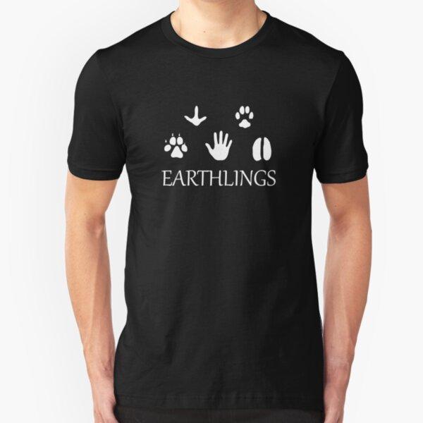 Earthlings Animal Paws - White Slim Fit T-Shirt