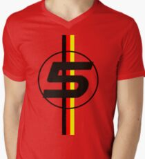 Sebastian Vettel #5 German Stripes Men's V-Neck T-Shirt