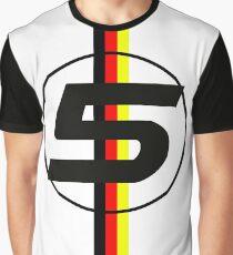 Sebastian Vettel #5 German Stripes Graphic T-Shirt