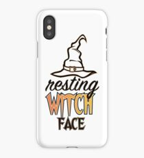 Resting Witch Face Funny Halloween iPhone Case/Skin