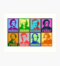 Pop Art Composers Art Print