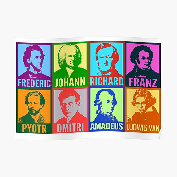 Pop Art Composers Poster