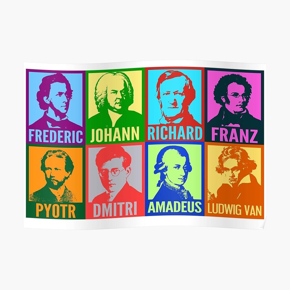 Pop-Art-Komponisten Poster