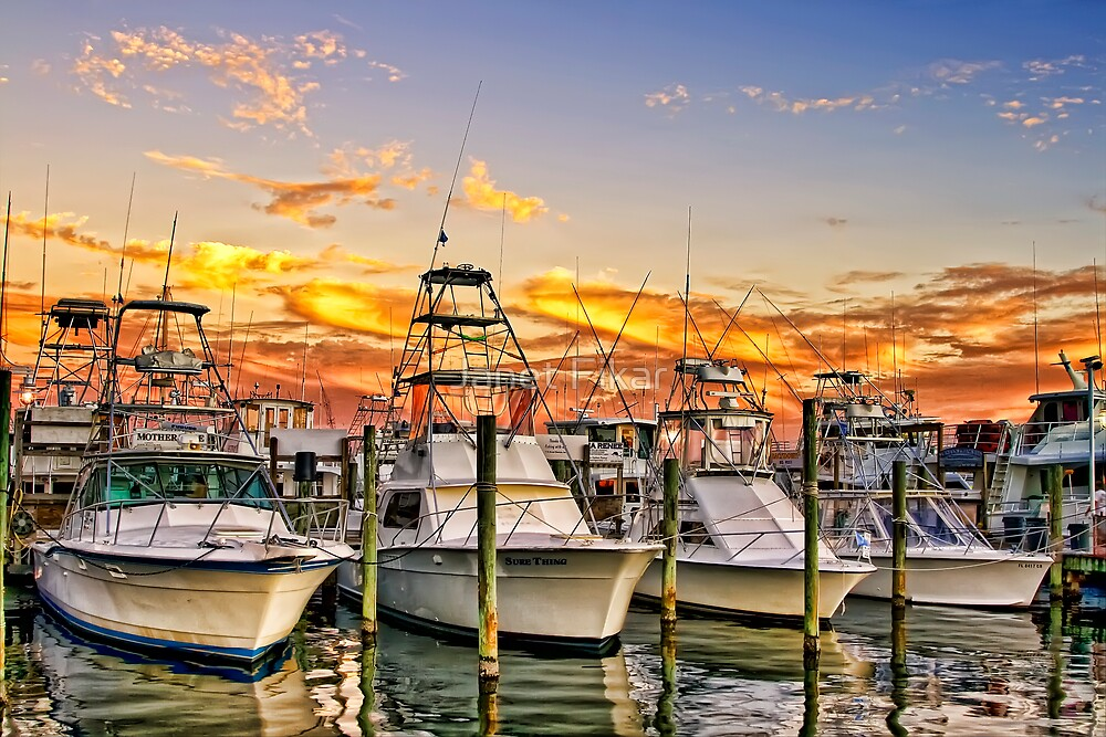 Destin Harbor by Janet Fikar
