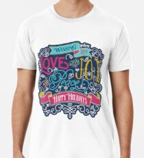 Christmas Typography Love Joy Peace Happy Holidays Banner Premium T-Shirt