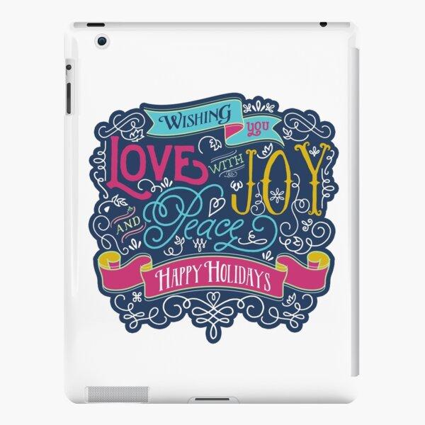 Christmas Typography Love Joy Peace Happy Holidays Banner iPad Snap Case